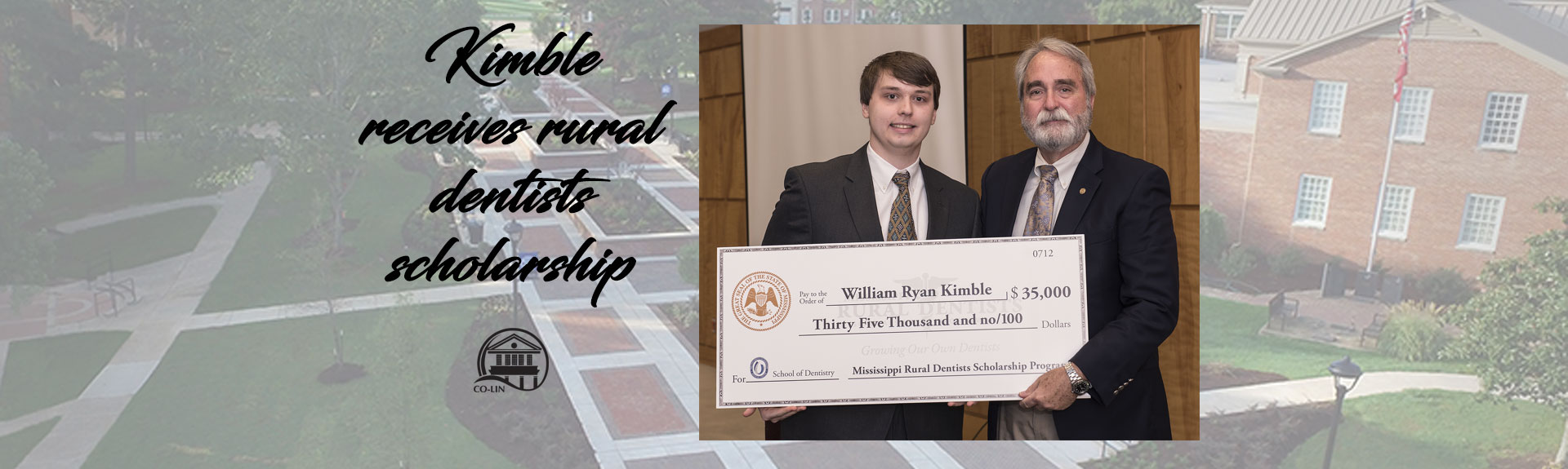 Kimble receives rural dentists scholarship