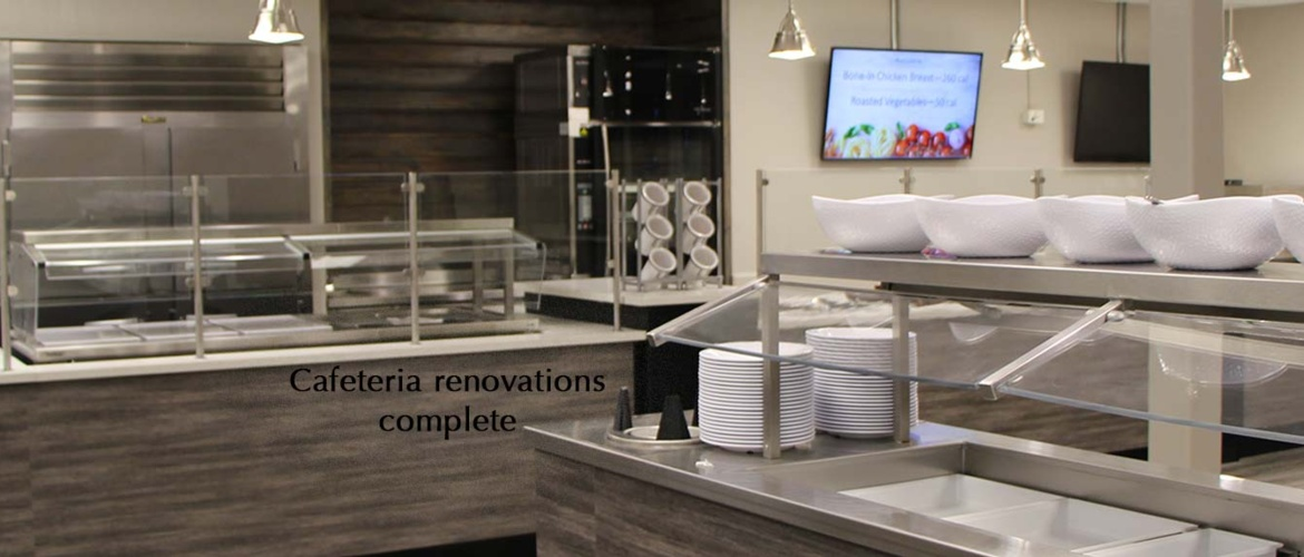 Renovated cafeteria offers modern design, healthy food options Picture
