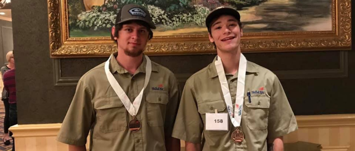 Turnbo and Ebbers earn bronze at SkillsUSA state competition Picture